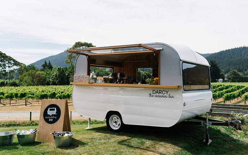 Mobile Drinks Darcy Caravan Bar Hawkes Bay