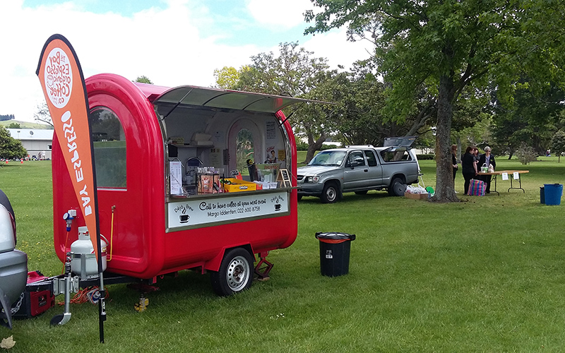 Coffee cart Hawkes Bay Deja Brew