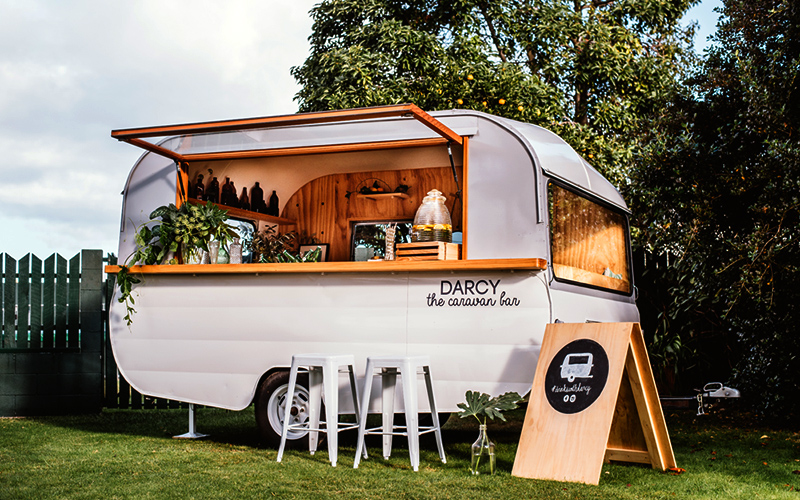 Mobile drinks van Darcy Hawkes Bay events