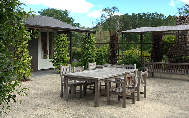 Courtyard at River House